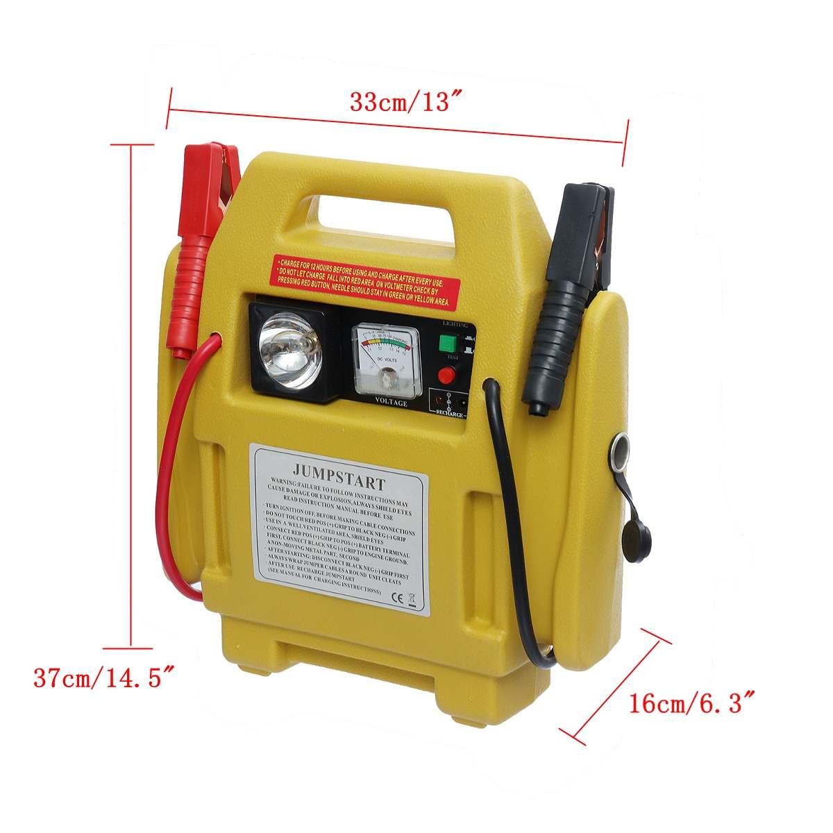 Démarreur voiture de Saut Booster 12 V Voiture chargeur de batterie batterie externe de Départ Outil Kit compresseur d'air avec lampe led d'urgence Auto Pompes - 6