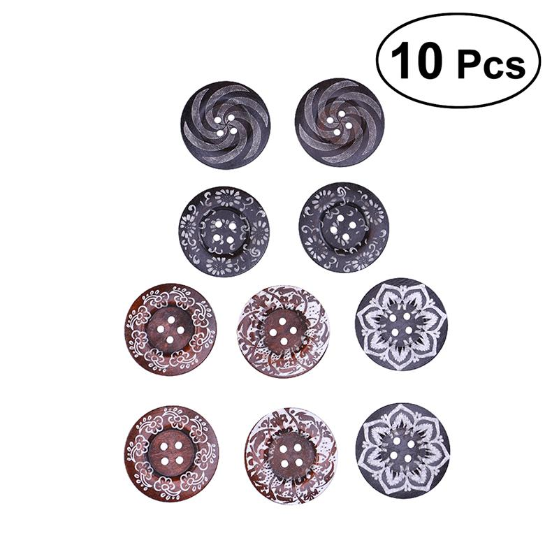6cm 2 3//8 inch 10 Extra Large Wooden Buttons D... Variety Wood Buttons