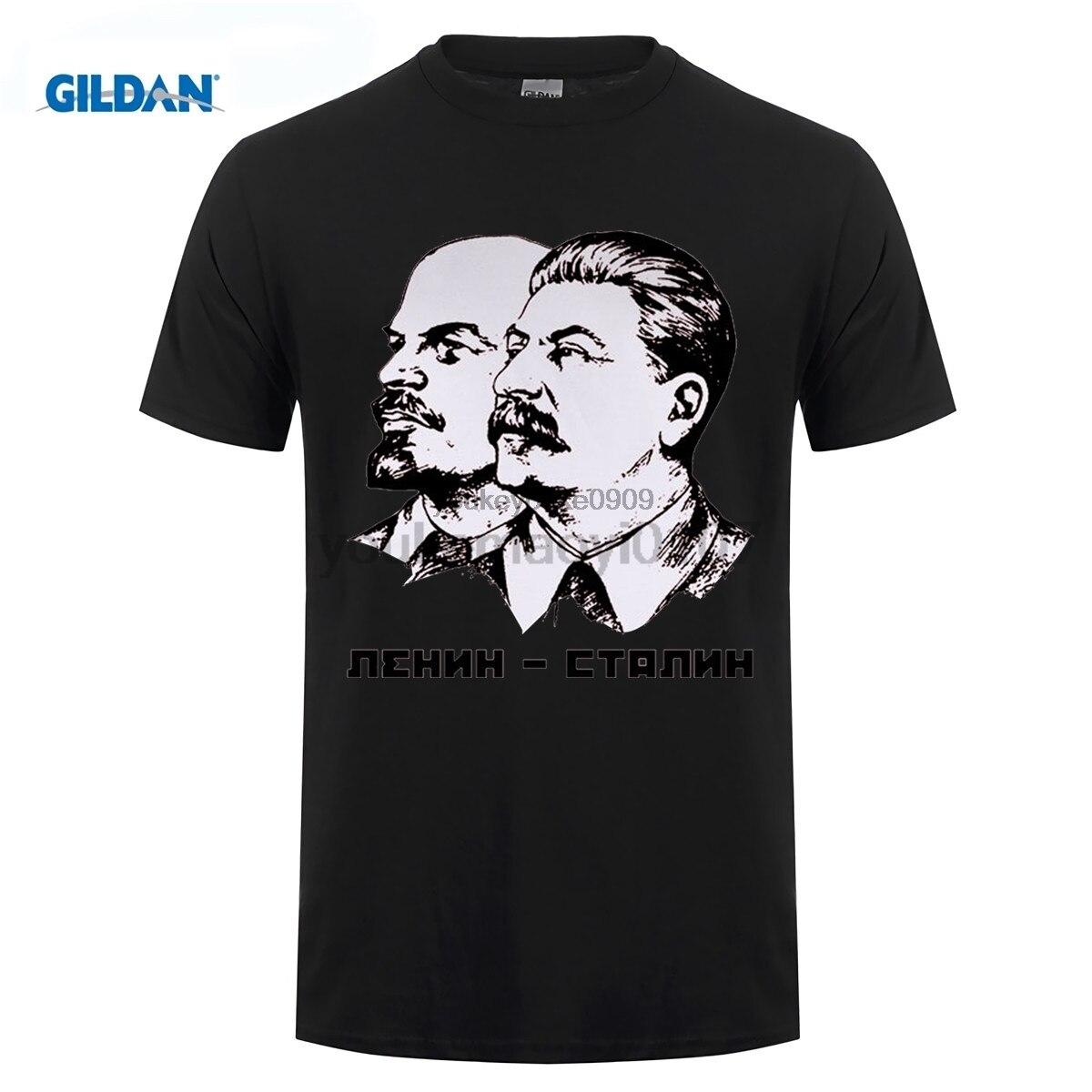 GILDAN designer t shirt Lenin And Stalin t-shirt Top Lycra Cotton Men T Shirt