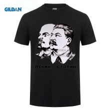 GILDAN designer t shirt Lenin And Stalin t-shirt Top Lycra Cotton Men T Shirt