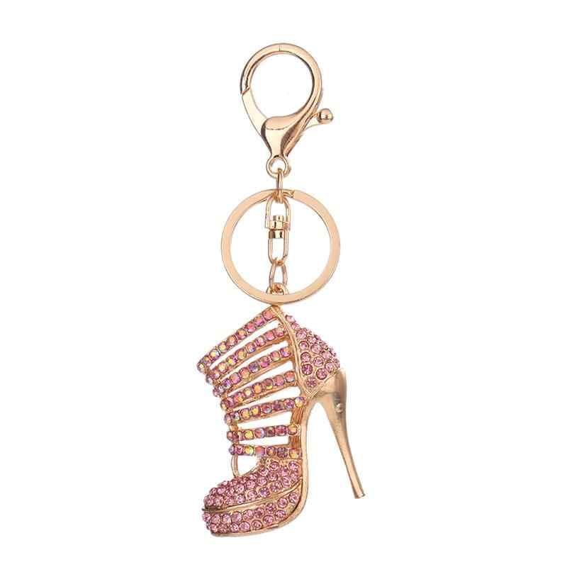 1 Pcs Rhinestone รองเท้าส้นสูงรองเท้า Key แหวนจี้กระเป๋ารถ Keyrings สำหรับผู้หญิงพวงกุญแจของขวัญ