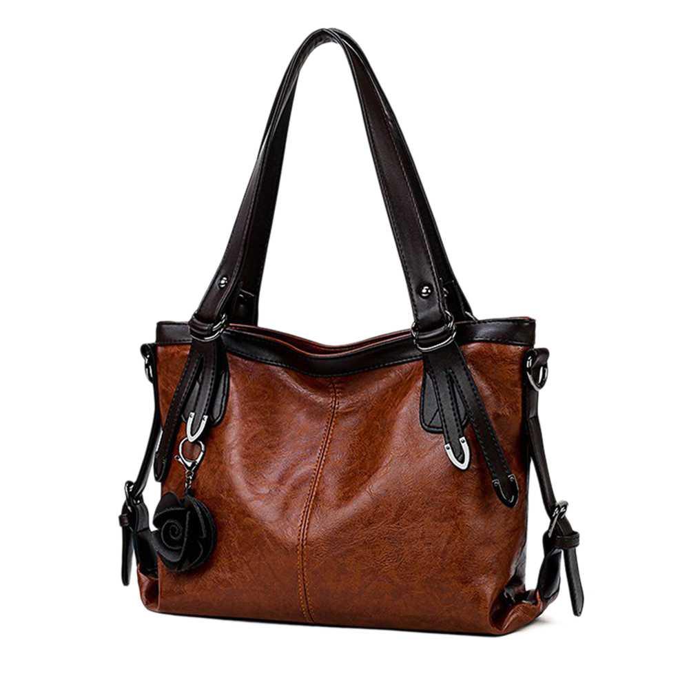 Tote Abdb Agrifoglio Modo Casual handle signore Versatile Delle Donne Bag Top Hobo Sacchetto Borsa Di E Della Brown Stile nRRHYrqw