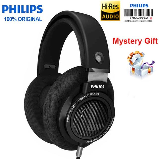 원래 필립스 헤드폰 Shp9500 헤드셋 3mm 긴 와이어 소음 감소 이어폰 Mp3 스마트 폰 컴퓨터 S9 S8