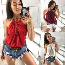 2019 Sexy Women Top Casual Vest Shirt Sleeveless Tank tops S-XL Summer Cropped Tees Camis