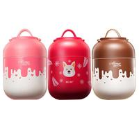 700ML Stainless Steel Insulated Bottle Large Size Burning Pot Heat Preservation Food Container Lunch Box With Folding Spoon