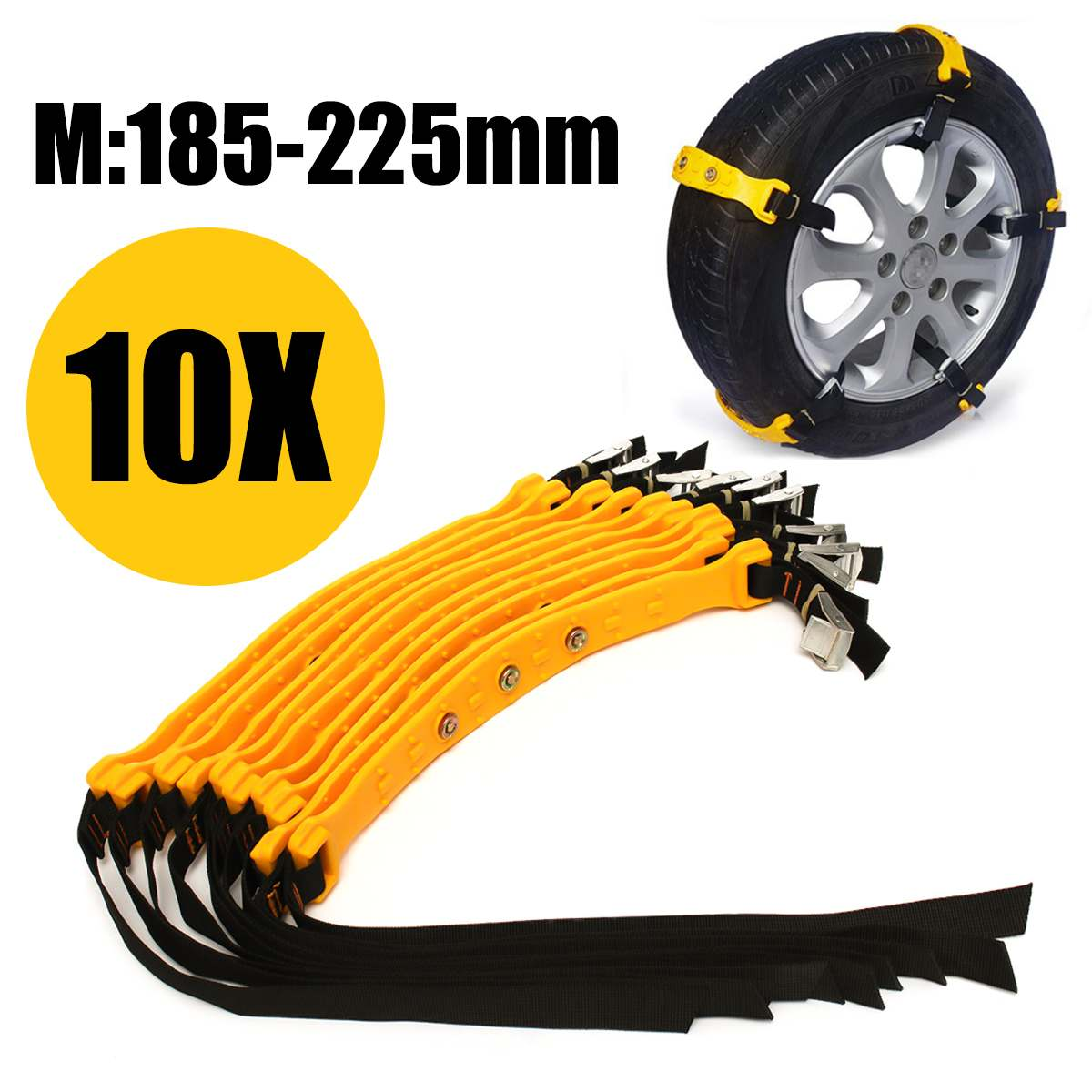 Tpu-Chains Wheel Truck Car-Tire Anti-Skid Adjustable SUV Snow Safety Winter 10pcs  title=
