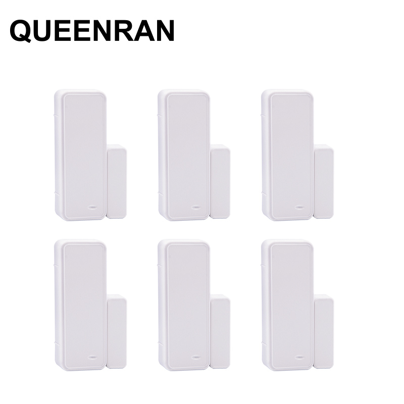 6pcs 433MHz Two-way Magnetic Sensor Wireless Door Window Open Close Reminder Detector For GSM Alarma Casas G90B Plus G90E S2G