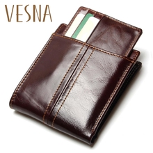 New Travel RFID Wallet Genuine Leather Men Wallets With Detachable Credit Card Holder Purses Carteira Masculina RFID Protection цены