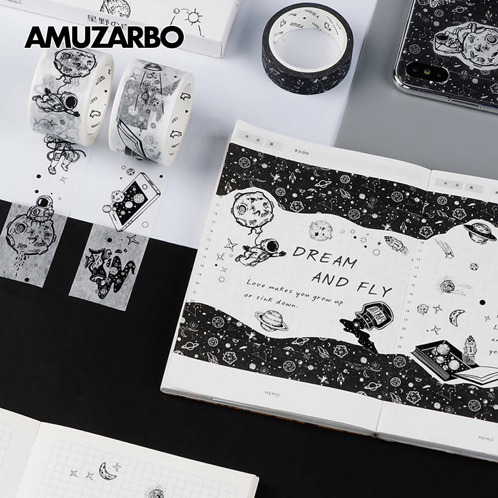 Dream Fly Masking Tape Universe Space Planet Washi Tape Adhesive Tape DIY Scrapbooking Sticker Label Craft