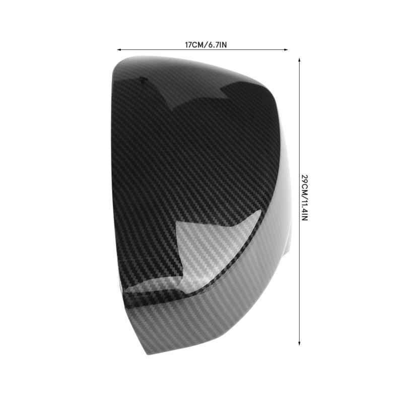 Carbon black Bediffer 2x Rear view Mirror Cover Side Door Side Wing Door Trim Cap Replacement Accessorie for Eclipse Cross 2017-2018