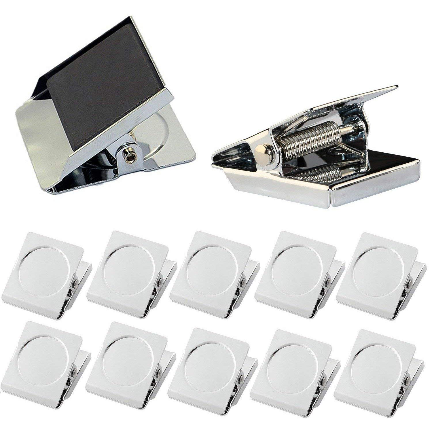 Magnetic Clips,12 PCS Square Refrigerator Magnetic Hook Clips, Fridge Magnets Refrigerator Magnet Office Magnets Photo Magnets