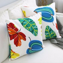 New Cushion Cover Nordic Leaves Simple Color Pillow Case Decorative Pillowcase Without Core For Home Decor