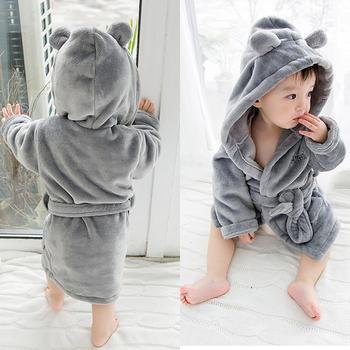 2019 Hot Baby Bathrobe Boys' Clothing Sleepwear Robes Baby Hooded Bath Towel Infants Nightwear