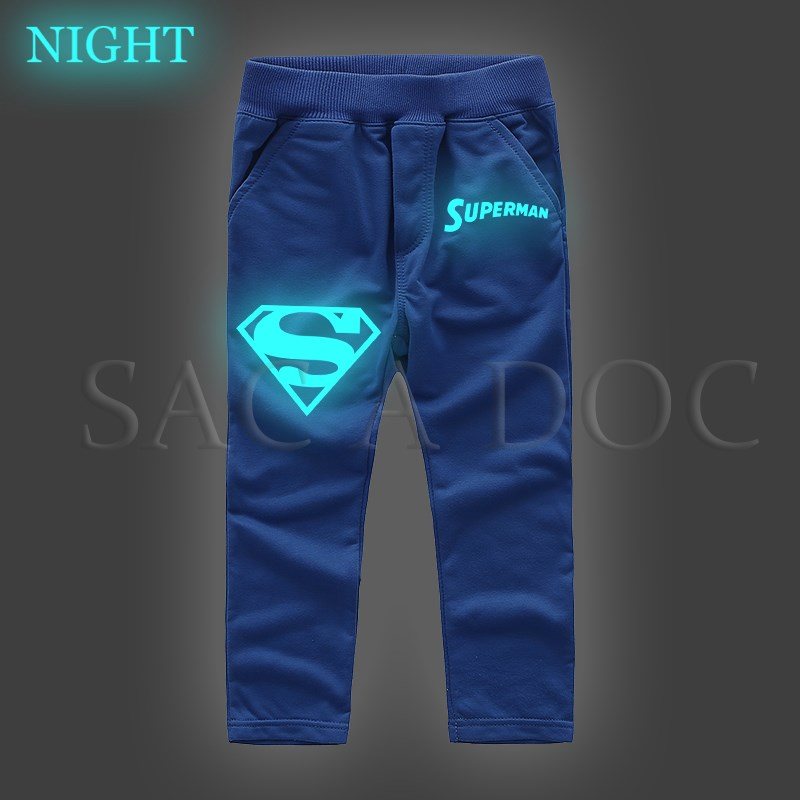 Superman Superhero Luminous Kids Hoodies Boys Girls Casual Sweatshirt Autumn Winter Long Sleeve Pullover Hooded Kids Best Gift Men's Clothing