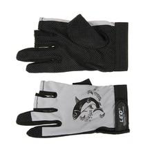 Fishing-Gloves Fingerless Cycling Anti-Slip 3 for Camping Running 1-Pair Quick-Drying