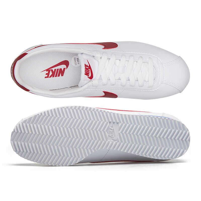 Nike clássico cortez couro tênis de corrida masculino breathbale absorção de choque ao ar livre esportes #749571