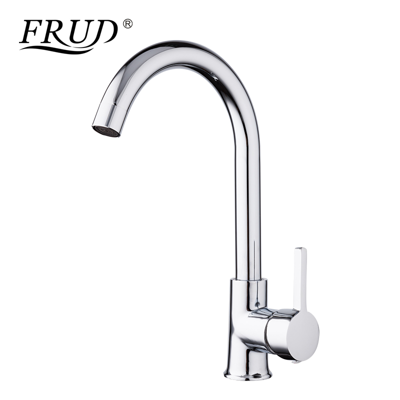 цена FRUD 1 SET New Arrival Kitchen Faucet Mixer Cold and Hot Kitchen Tap Single Hole Water Tap Zinc alloy torneira cozinha Y40012