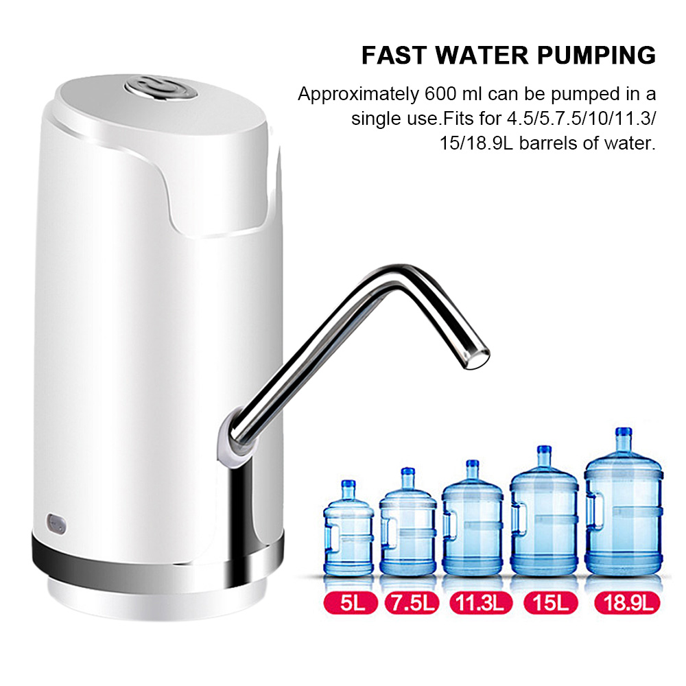 Automatic Electric Portable Water Pump Dispenser Gallon Drinking Bottle Switch Built in Rechargeable Battery