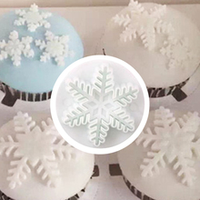 3Pcs/Set Snowflake Fondant Cake Decorating Plunger Sugarcraft Cutter Mold Tools Christmas
