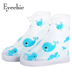 Eyechic Waterproof Rainboots Cover kids Shoes Cover boys girls shoes Anti-Slip Rain Shoes Pink Blue Whale
