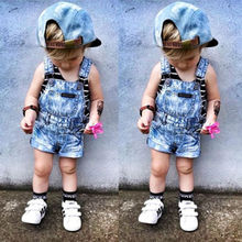 Новые летние милые джинсовые комбинезоны для маленьких мальчиков и девочек, ползунки, шорты, комбинезоны, крошечная одежда