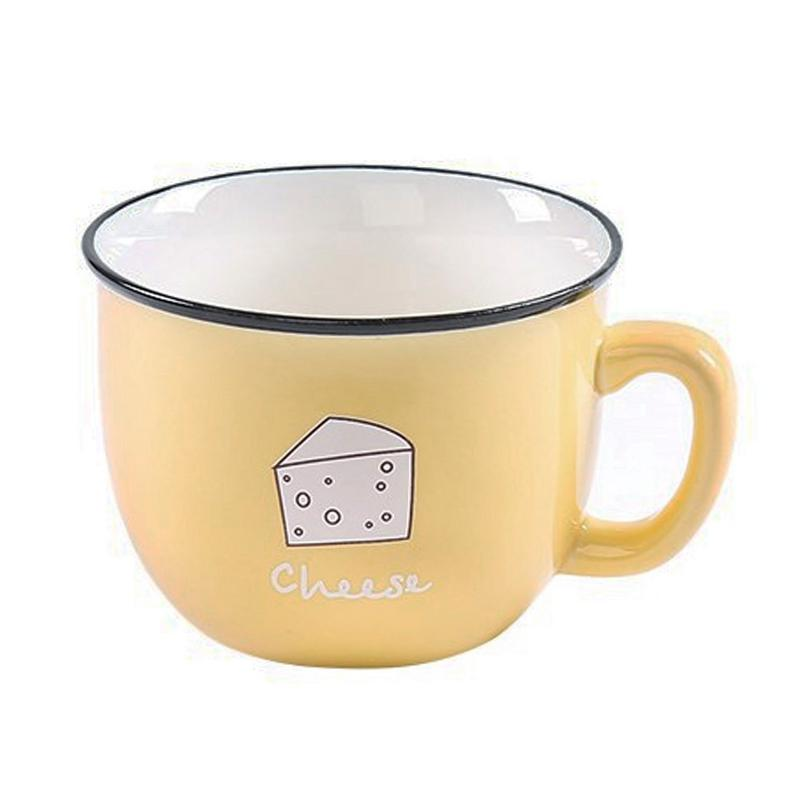Innovative High-Quality Ceramic Mug Business Gift Korean Style Cup For Breakfast Milk Coffee Cartoon Heat-resistant Drink Cups