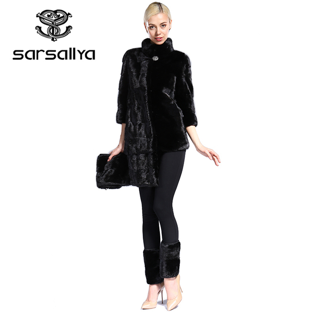 Real Fur Coat Mink Women Winter Natural Fur Mink Coats And Jackets Female Long Warm Vintage Women Clothes 2019 Plus Size 6XL 7XL 52