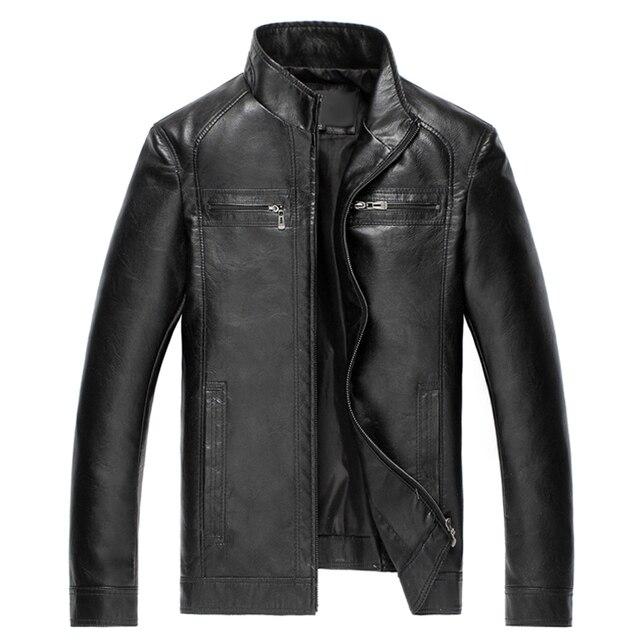יוקרה אופנה גברים של מעיל עור באיכות גבוהה עור חום גברים מעיל דמוי עור גברים מעיל jaqueta דה couro 2018