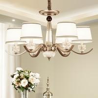 DX Modern Led Chandelier Nordic Lighting Living Room Bedroom Lamp Decor Light Luxury Glass Fabric Shape White Bronze Lusters