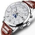 Низкая цена) Nesun часы для мужчин люксовый бренд автоматические механические мужские часы сапфир relogio masculino светящиеся водонепроницаемые