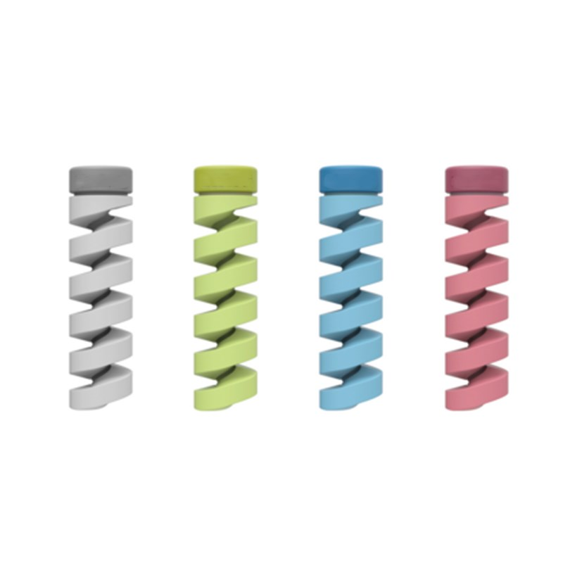 10pcs Spiral Cable Protector Data Line Silicone Bobbin Winder Protective Tube Cable Cover For Iphone