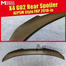 G02 FRP Spoiler AEPSM style Primer black rear lip wings For BMW X4 wing Lip trunk 2014-2018