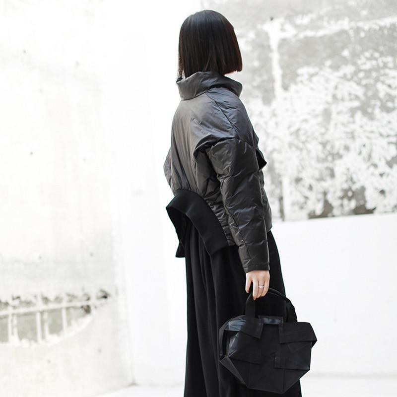 Irrégulière Le Jk137 eam Dos Longues Noir Black Col Vers Printemps Bas Manches 2019 Veste Nouveau Chaud Mode Manteau Montant De Marée Point À Femmes qBqZvx