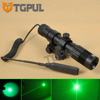 Greenbase Tactical 2 in 1 Green Laser scope Sight Flashlight fit Picatinny Rail For Night Hunting Windage Elevation Adjustment