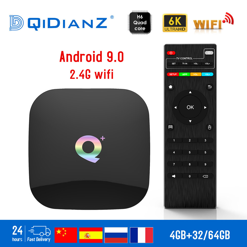 QPLUS TV BOX Smart 6K Ultra HD 4 32G Android 9 0 Movie TV Receiver WIFI