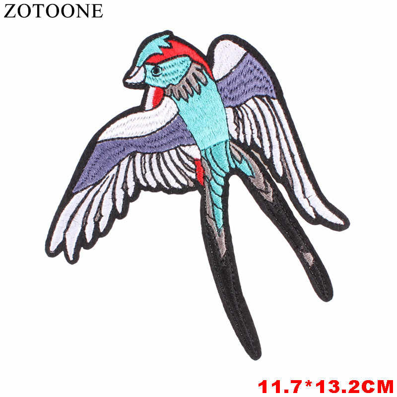 ZOTOONE Rhinestone Cat Patch Iron On UFO Bird Letter Patches For Clothes Applique Embroidery Flower Patches Diy Bags Backpack E