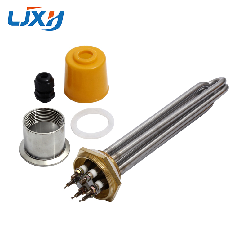 LJXH 1.2 Copper Thread Immersion Water Tubular Heater Heating Tube 220V/380V 304SUS with Plug Head Nut Power 3/4.5/6/9/12KW    LJXH 1.2 Copper Thread Immersion Water Tubular Heater Heating Tube 220V/380V 304SUS with Plug Head Nut Power 3/4.5/6/9/12KW