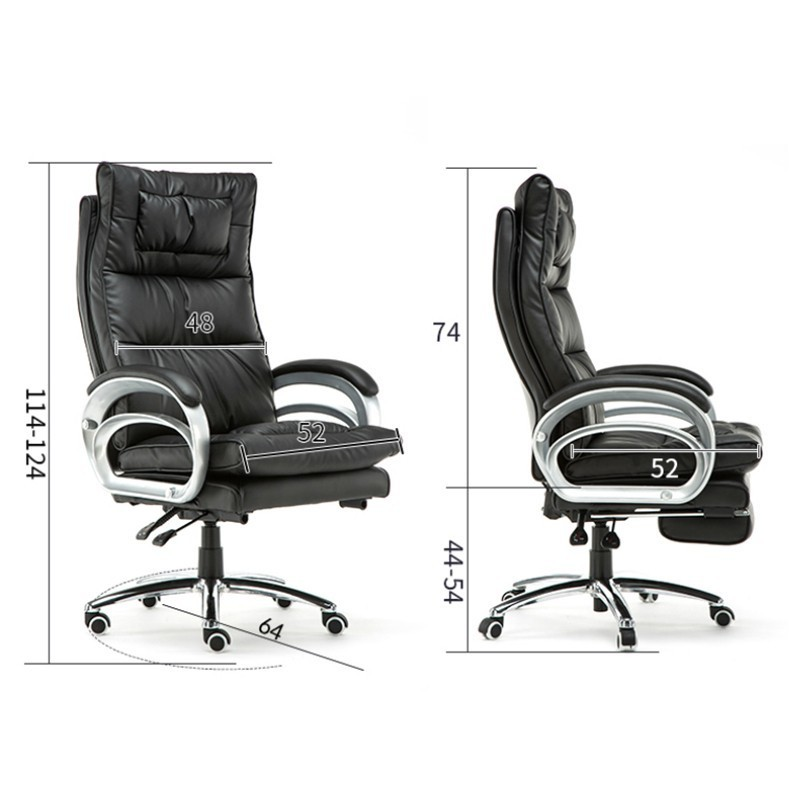Office Chair Lifted Rotated Gaming Seat with Footrest Massage Computer Chair Reclining Boss Stool Simple Household