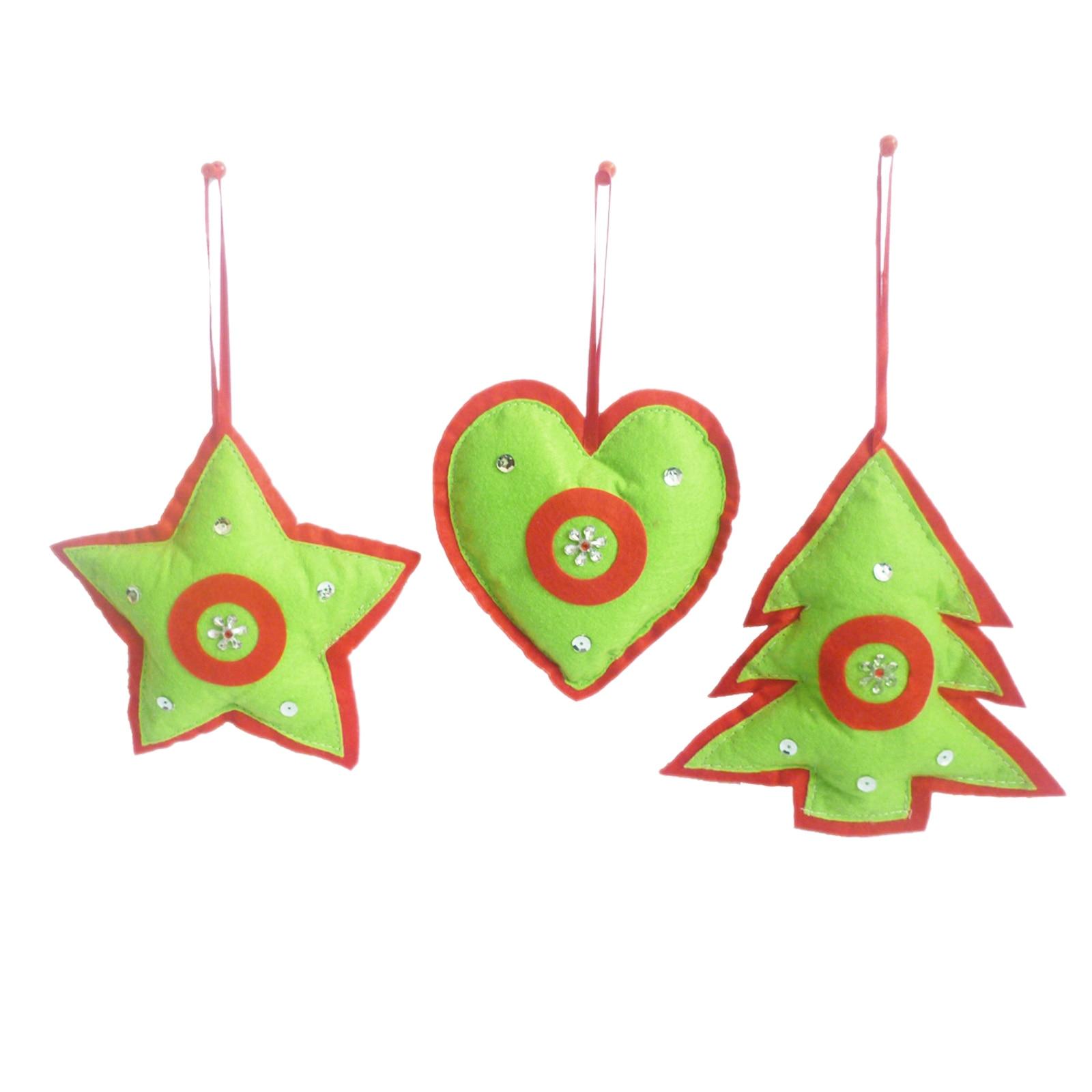 1pcs New Year Christmas Tree Pendants Felt Merry Christmas