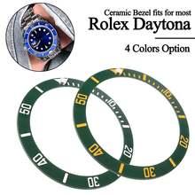 4 типа 38 мм черный синий зеленый керамический ободок вставка для 40 мм Submariner мужские часы Сменные аксессуары для часов Новинка
