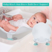 Portable Infant Baby Ass Washing Basin Seat Newborn Compact Baby Bathtub for Newborn Shower Bath Mat PP Bathtub Baby Care Bidet