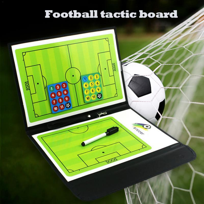 Magnetic Soccer Training Board Folding Football Tactics Board Plaque Whiteboard Basketball Tactics Scoreboard