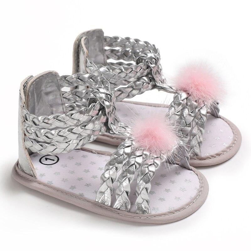Pudcoco New Brand Newborn Baby Girl Bow Non-slip Princess Crib Shoes Summer Sandals