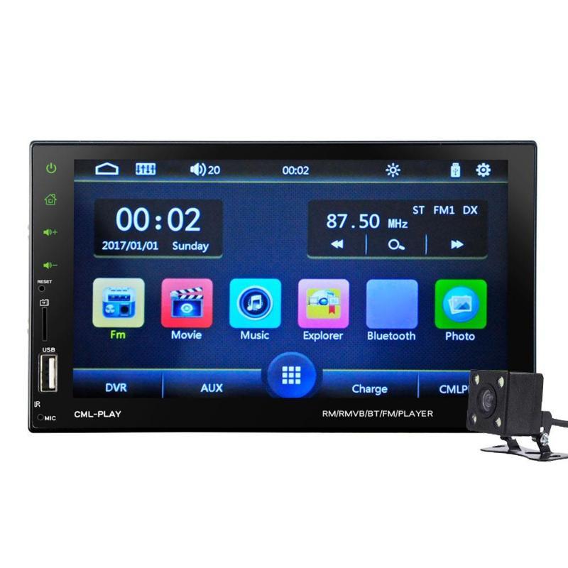 2Din 7in HD LCD écran tactile Bluetooth autoradio MP5 FM Radio + caméra arrière