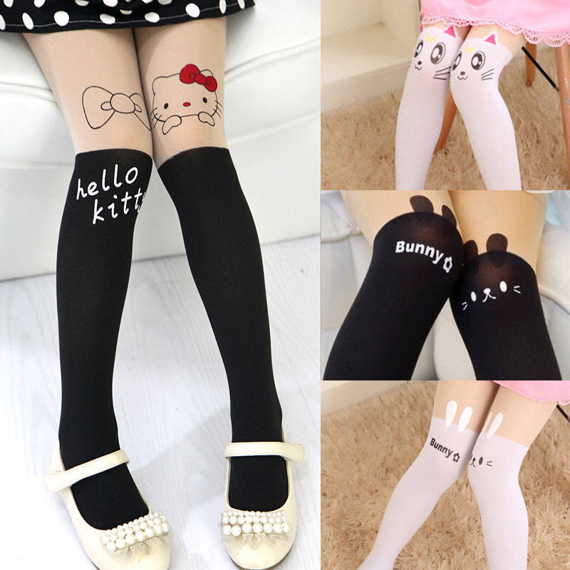 Girls Kids Baby kids Toddlers White or dots autumn Stockings Pantyhose Tights
