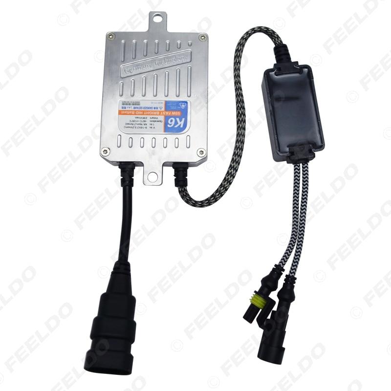 FEELDO 1 satz Auto Scheinwerfer AC 12 v 55 watt H4 HID Xenon Birne Hallo/Lo Strahl Bi xenon Lampe Licht Dünne Drossel HID Kit # AM4485 - 4