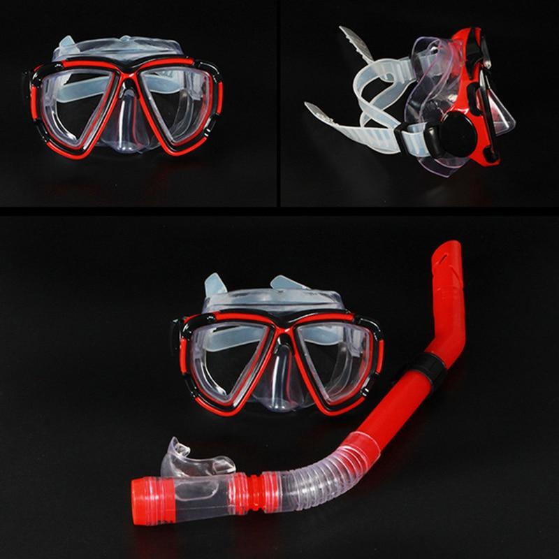 New Professional Diving Goggles Men And Women Swim Snorkel Adult Scuba Monofin Tube Snorkeling Swimming Glasses Diving Mask