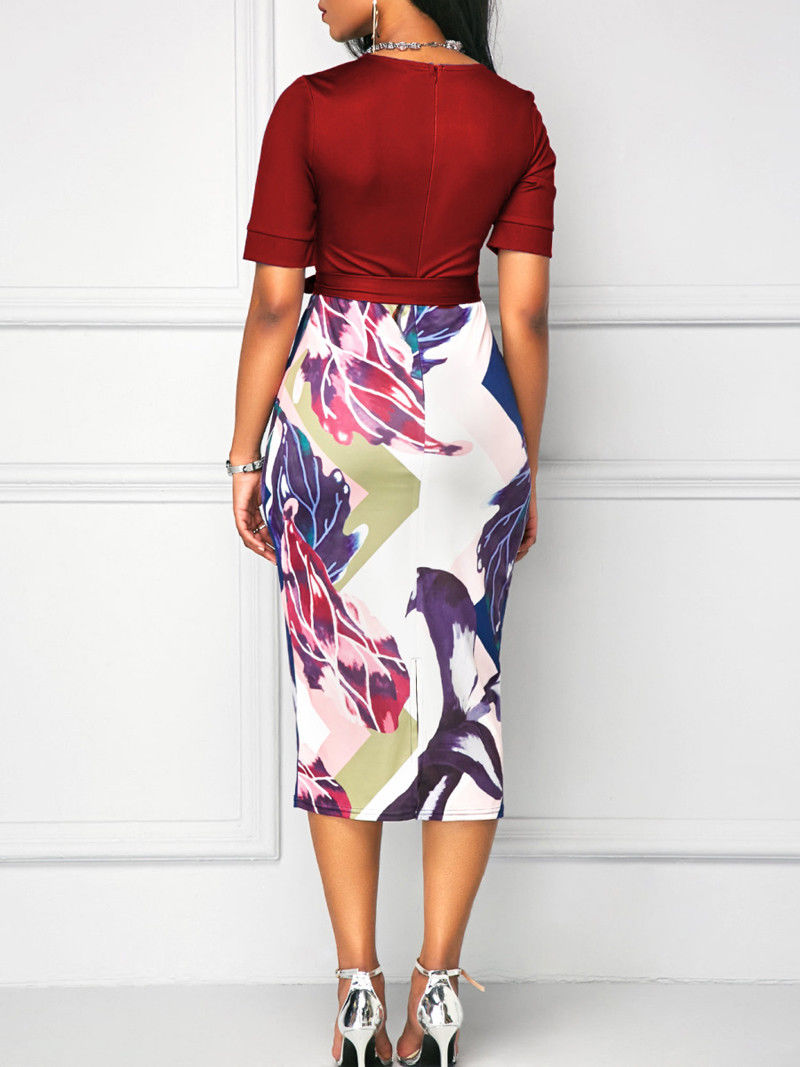 New Mide Dress Women Elegant  Work Business Office Classic Dress