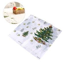Скатерть 110x180 см с рисунком рождественской елки, прямоугольная одноразовая скатерть из ПВХ, скатерть, скатерть для стола, рождественские, домашние, вечерние