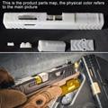 -Difícil de resina de manga Kit para SKD Glock G18-de manga de hierro negro + Shell ventana de Metal de plata de Gel